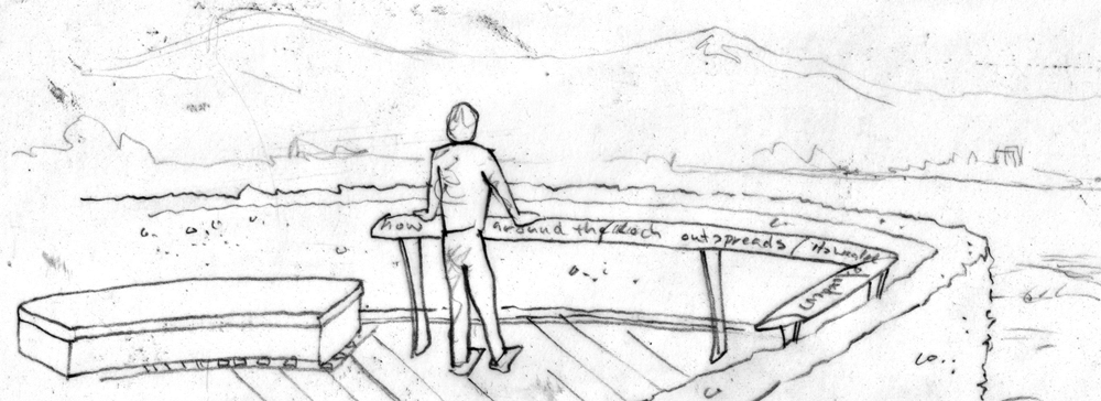 Kinross Heritage Trail handrail initial sketch