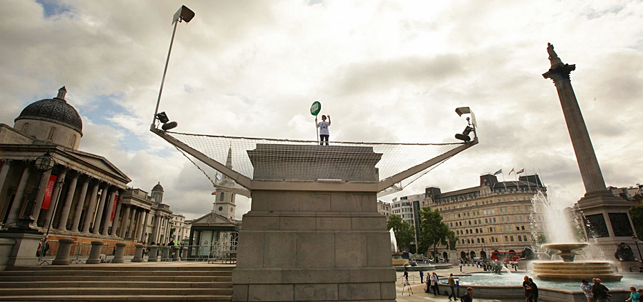 Anthony Gormley's Fourth Plinth Installation Begins