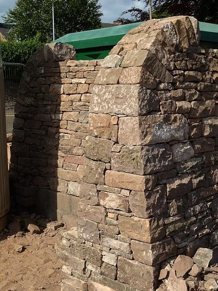 Forfar North wall end