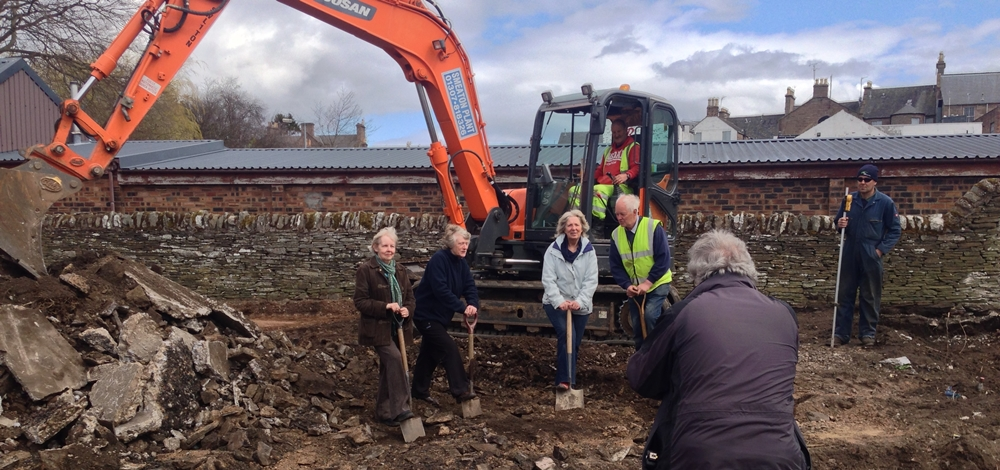 Forfar Breaking Ground photo shoot